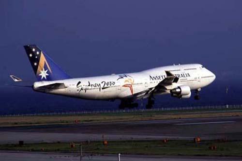 アンセットオーストラリア航空 B...